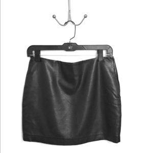 Mini faux leather